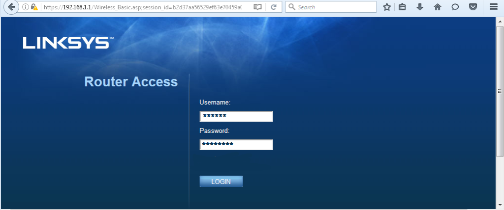 Linksys-Login