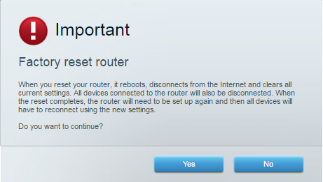 Reset your Linksys router using myrouter.local