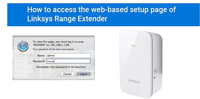 How to access the Linksys extender setup page