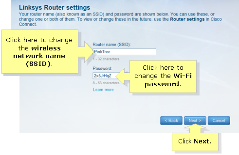 change my Linksys Router Username and Password