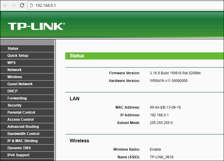 login tplinkwifi.net using ip address
