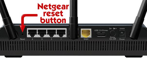 Netgear Router Reset Factory Settings