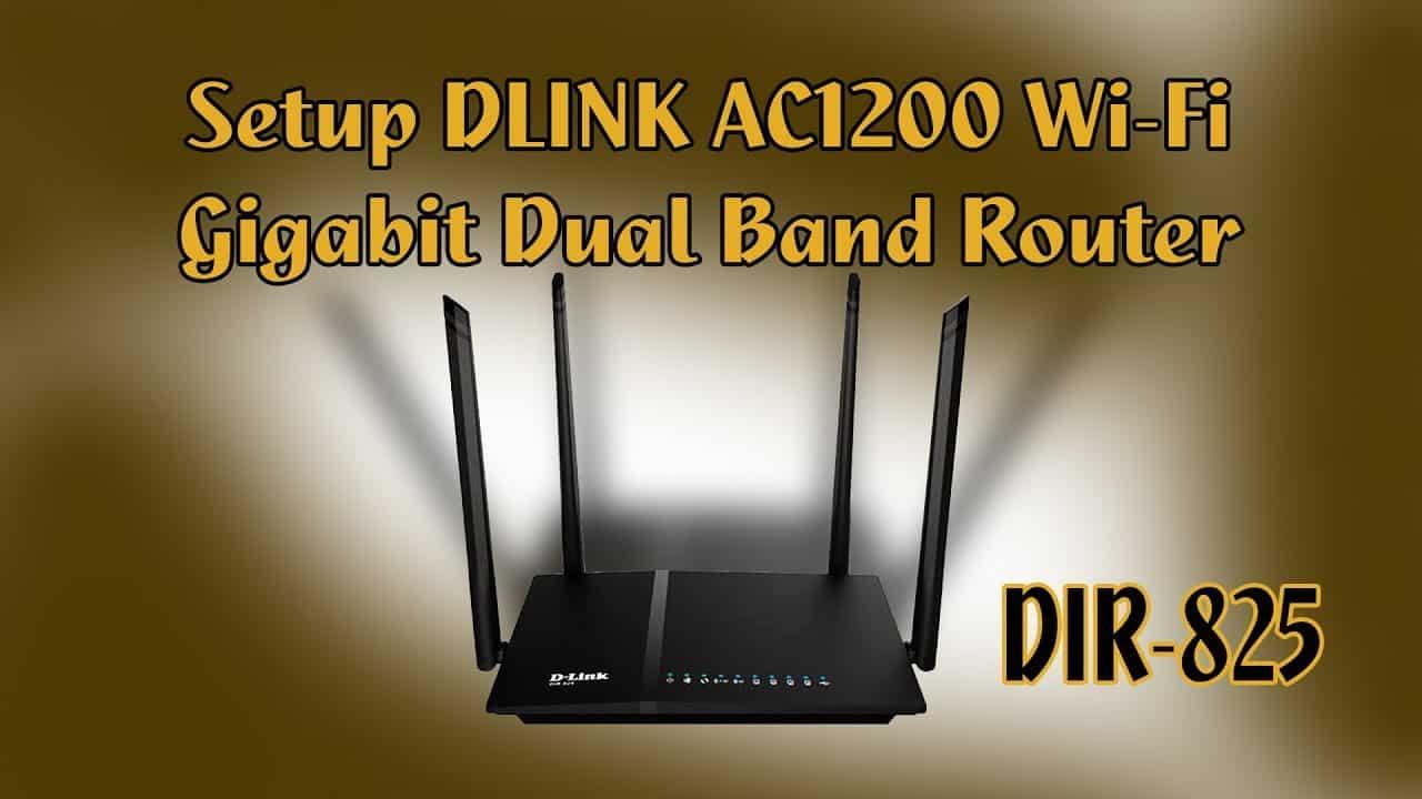 setup D-link AC1200 router