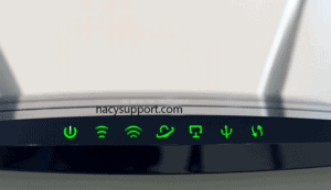 Turn on your router and check whether the green flashes